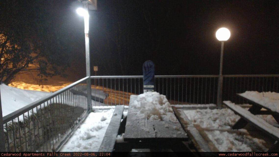 Cedarwood Balcony Snow Cam, Falls Creek