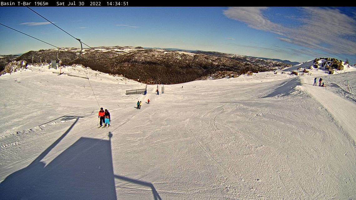 The Basin T Bar Snow Cam, Thredbo