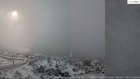 Mt Wellington Snow Cam, Tasmania