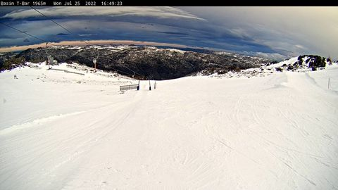 The Basin T Bar LIVE Snow Cam, Thredbo