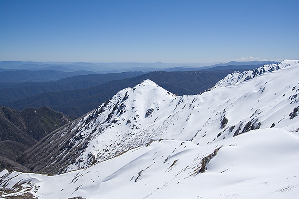 view from mount kosciuszko